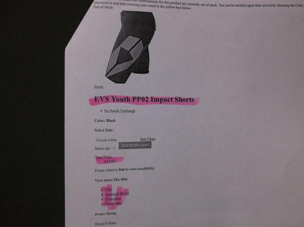 "/""EVS/"" PP04 Black XXLarge Riding Shorts NEW!"